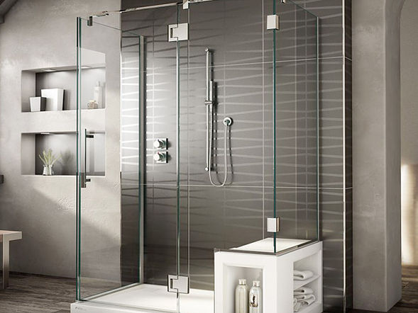 Custom bathroom shower glass Frameless Shower Doors