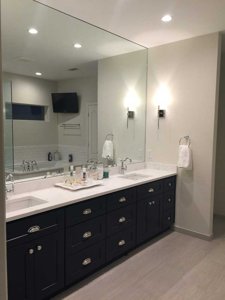 Large Custom Bathroom Mirror