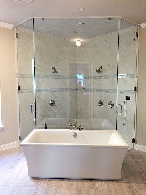This is a Frameless Glass Shower installed in Plano, TX