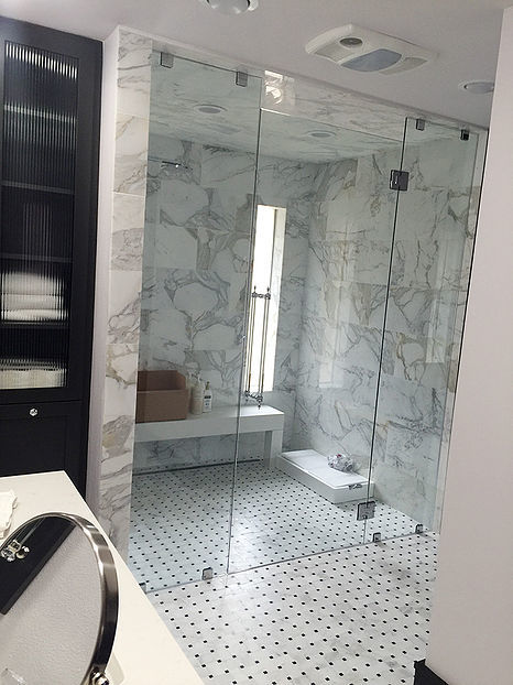 glass frameless shower doors