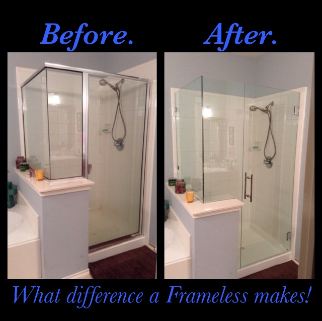 Before and After Frameless Shower Difference McKinney