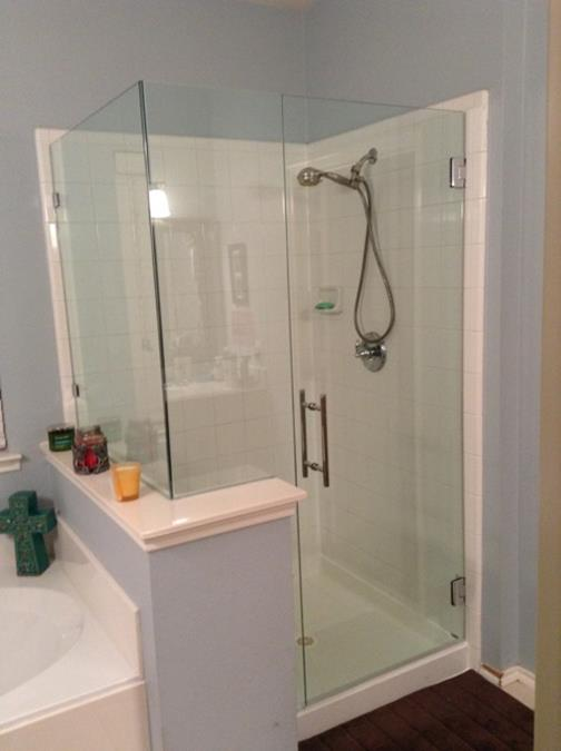 Corner Frameless Shower Enclosure Ladder Pull MCKinney (Copy)