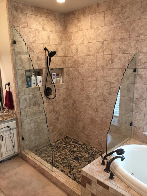 Custom Rocky Mountain Rough Edge Glass Splash Panels (Copy)