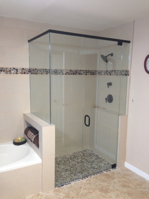 Frameless Shower Enclosure with Header
