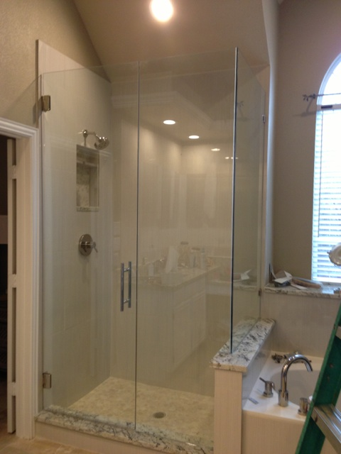Frameless Shower corner shower (1)