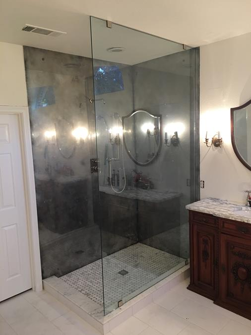 Frameless full height shower enclosure panel (Copy)