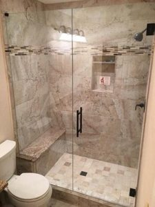 frameless walk-in shower enclosure
